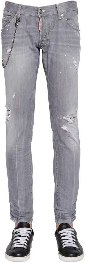DSQUARED2 16.5cm Clement Denim Jeans W/ Chain