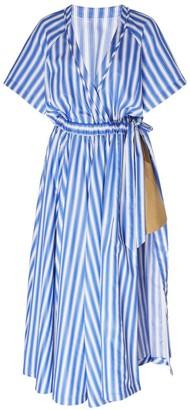 Rosie Assoulin Striped Wrap Dress