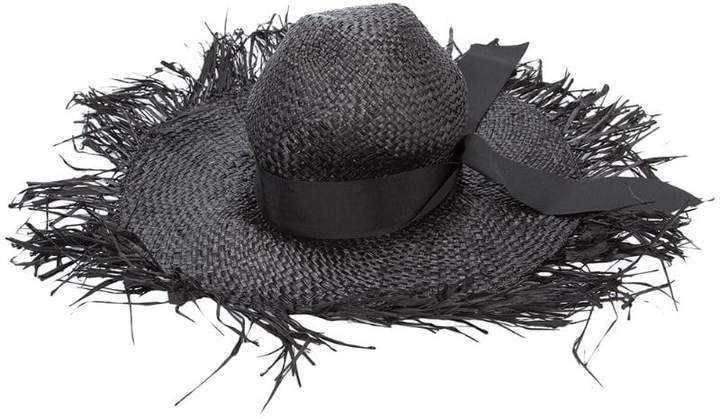 destroyed sun hat - Black Gigi Burris Millinery o8pnORTav