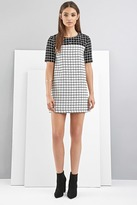 Forever 21 FOREVER 21+ FoxieDox Grid-Patterned Shift Dress