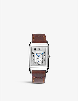 Jaeger-LeCoultre Q3848420 Reverso Classic duoface stainless steel and leather watch