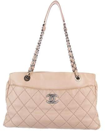 Chanel Double Stitch Shopping Tote