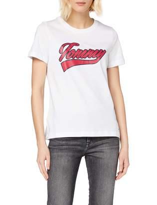 Tommy Hilfiger Women's Tommy Logo Script PRT Tee Ss T-Shirt