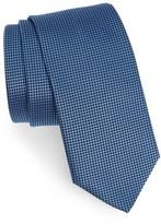 HUGO Men's Boss Grid Silk Tie