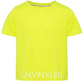 Calvin Klein Calvin Klein Big Girls' Performance Crop Top Tee Shirt