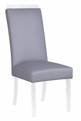 Yasmin Upholstered Dining Chair (Set of 2) Orren Ellis Upholstery Color: Gray