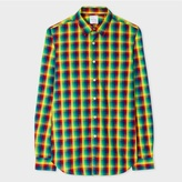 Paul Smith Men's Slim-Fit Multi-Colour Madras Check Shirt