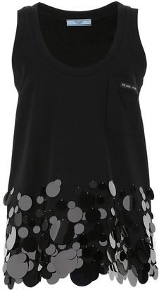 Prada Sleeveless Sequin Embellished Top