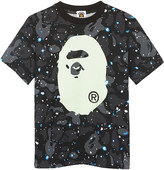 A Bathing Ape Camouflage glow-in-the-dark cotton T-shirt 4-8 years