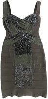 Herve Leger Grey Glitter Dress for Women