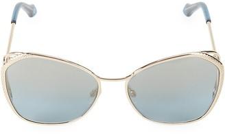 Roberto Cavalli 58MM Textured-Wire Cat Eye Sunglasses