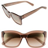 Bobbi Brown Women's 'Ava' 54Mm Sunglasses - Crystal