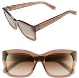 Bobbi Brown Women's 'Ava' 54Mm Sunglasses - Transparent Brown