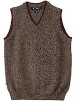 Brooks Brothers Boys' Brown Marled Wool Sweater Vest.