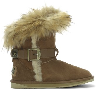 Australia Luxe Collective Tsar Short Tan Double Faced Sheepskin Ankle Boots
