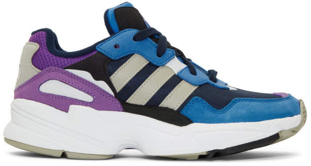 adidas Navy and Blue Yung 96 Sneakers