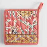 World Market Coral Dahlia Floral Potholder