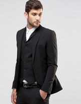 Asos Super Skinny Fit Suit Jacket In Black