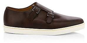 John Lobb Men's Holme Suede Double Monk-Strap Sneakers