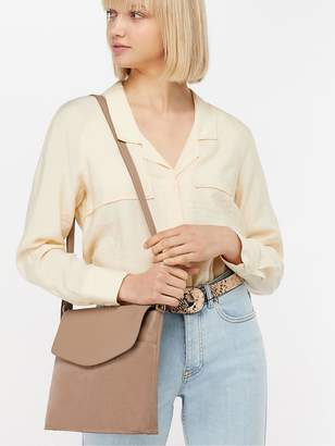 Accessorize Leather Messenger Cross-Body Bag - Nude