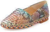Alexandre Birman Python Espadrille Flat, Multicolor