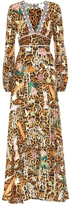 Camilla Leopard-print silk maxi dress