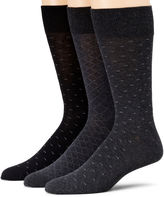 JCPenney Stafford 3-pk. Cotton-Rich Crew Socks - Big & Tall