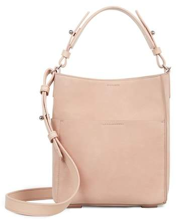 AllSaints Mini Mast Leather North/South Tote