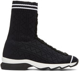 Fendi Black Sock High-Top Sneakers