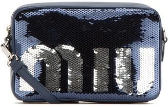 Miu Miu Logo Sequined Crossbody Bag