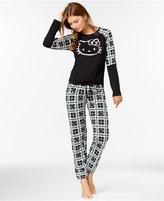 Hello Kitty Long Sleeve Top and Plaid Pajama Pants Set