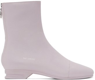 Raf Simons Pink 2001-2 Zip-Up Boots