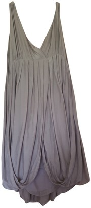 Comptoir des Cotonniers Brown Silk Dress for Women
