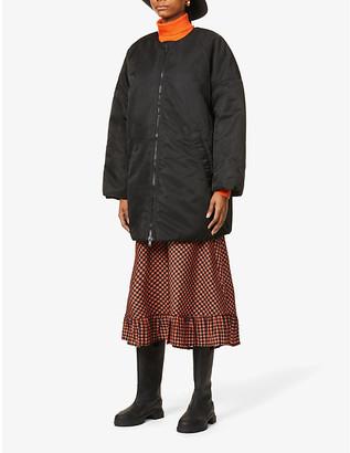 Ganni Oversized zipped shell puffer jacket