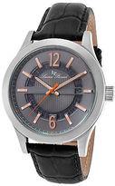 Lucien Piccard 40020-014-RA Men's Oxford Black Genuine Leather Gunmetal Dial