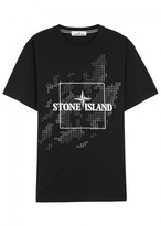 Stone Island Black Logo Cotton T-shirt