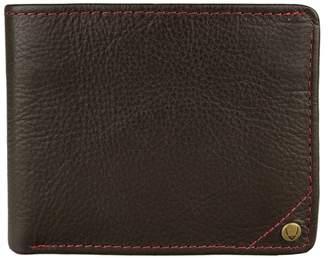 Hidesign ASW-001-BR-RFID Angle Stitch RFID Blocking Slim Bifold Leather Wallet