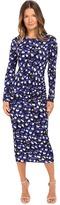 Just Cavalli Scratch Leo Print Bodycon Midi Dress Women's Dress