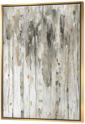 Designart The Modern Gray Forest Iv Farmhouse Painting Print, Gold, 30