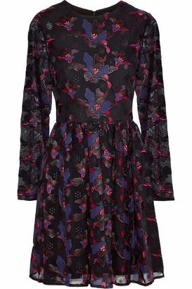 Badgley Mischka Embroidered Tulle Mini Dress
