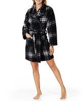 Kensie Plaid Fleece Wrap Robe