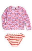 Tea Collection Toddler Girl's Sea Fan Two-Piece Rashguard Swimsuit