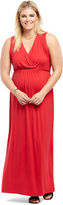 Motherhood Plus Size Faux Wrap Maternity Maxi Dress