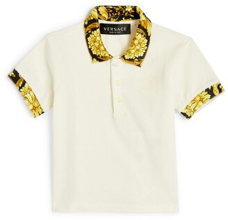 Versace Kids Baroque-Trim Polo Shirt (3-36 Months)