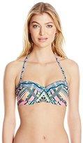 Jessica Simpson Women's Venice Beach Bralette Bikini Top
