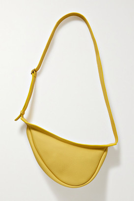 The Row Slouchy Banana Small Textured-leather Shoulder Bag - Chartreuse