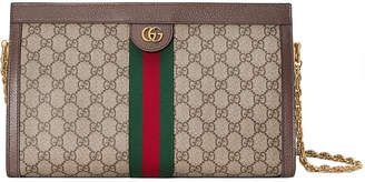 Gucci Linea Dragoni Medium GG Supreme Canvas Chain Shoulder Bag