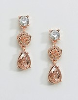 Coast Floral Rose Gold Earrings