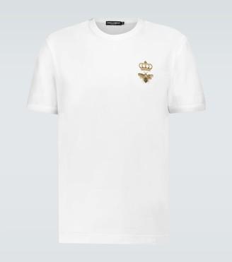 Dolce & Gabbana Embroidered cotton T-shirt
