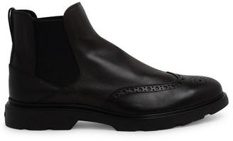 Hogan Brown H393 Chelsea Boots